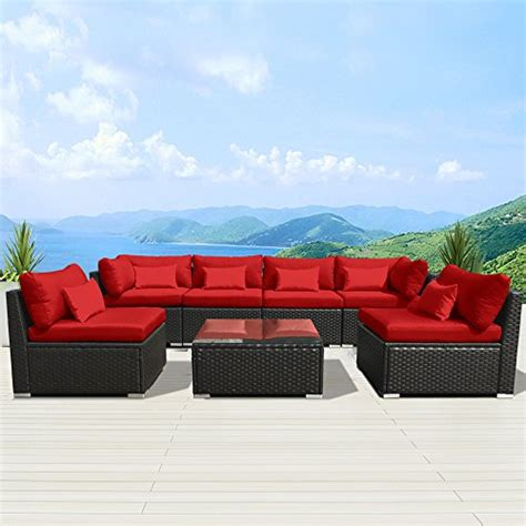 red outdoor sectional modenzi 7g u outdoor sectional patio furniture espresso