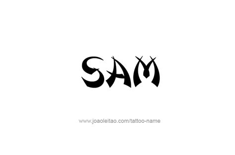 sam name tattoo designs