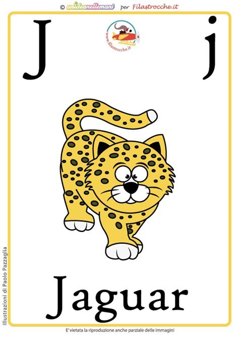 lettere in inglese schede alfabeto inglese da stare lettera j