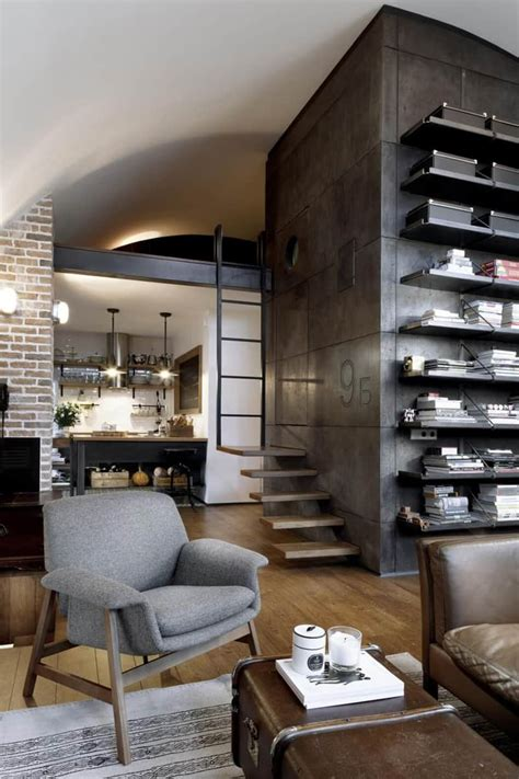 top  charming apartments decorated  industrial style