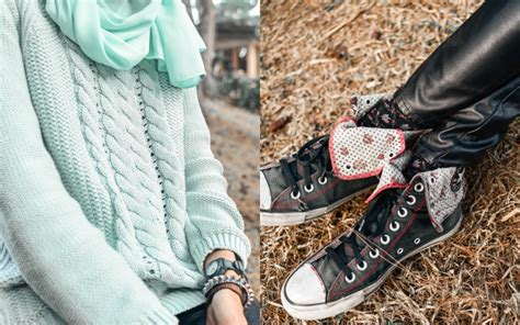 Converse Rajut evening rest in the forest rklook
