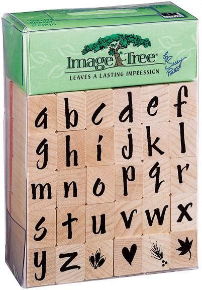 rubber st letters set image tree rubber st set brush letters alphabet lower