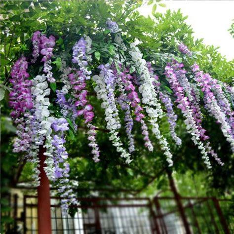 wisteria color wholesale 200pcs 3 colors wisteria violet flowers vine 28