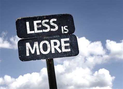 Less Is More by In Communication Less Is More