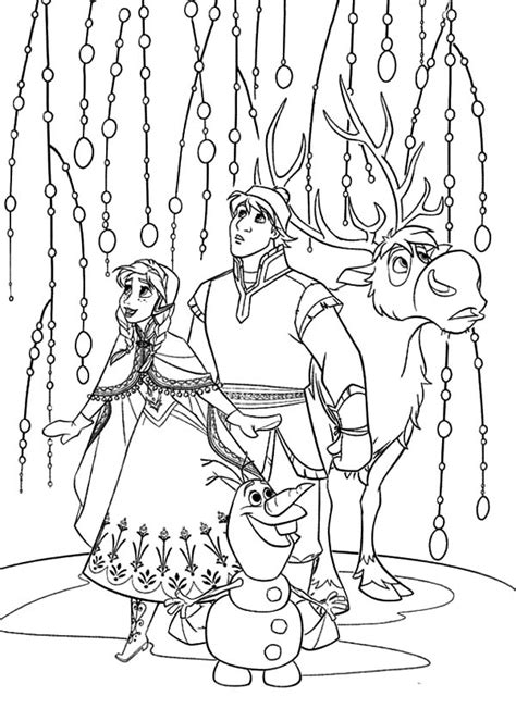 frozen coloring pages olaf and sven kristoff sven and olaf look something amazing