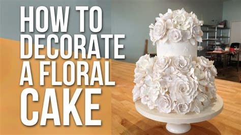 how to decorate cake at home how to decorate a white floral cake cake tutorials youtube