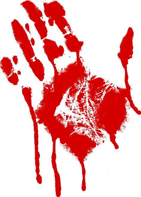 5 bloody handprint png transparent onlygfx