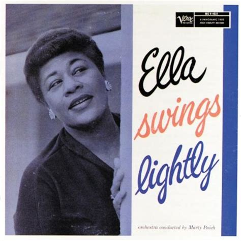 Ella Fitzgerald Swing - ella swings lightly by ella fitzgerald album cover