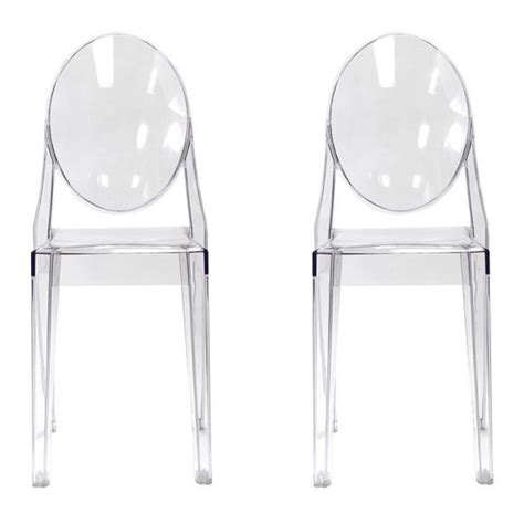 Ghost Chair Dining Set Set Of 2 Style Ghost Dining Chair Clear Color