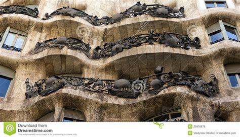 Modernist House Plans House Casa Mila Architect Antonio Gaudi Editorial Stock