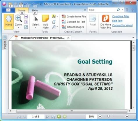 How To Create Powerpoint Handouts In Pdf With Free Nitro Pdf Reader Creating Powerpoint Templates