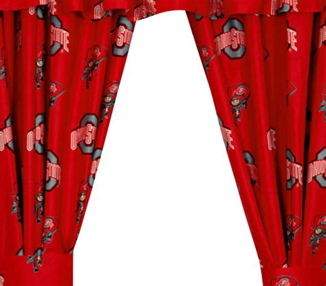 ohio state curtains ncaa ohio state buckeyes collegiate window curtain panels