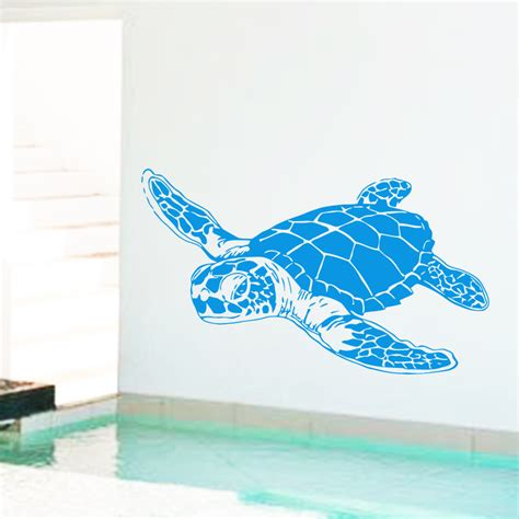 turtle wall stickers design home decoration cheap vinyl sea turtle wall
