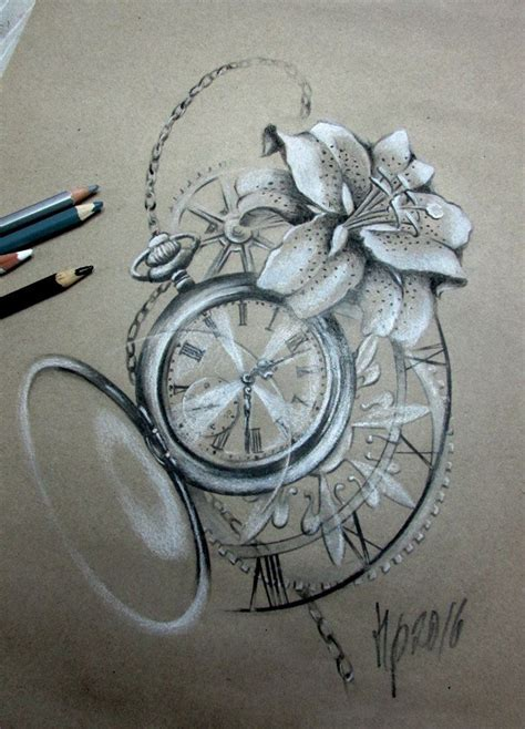 pinterest tattoo clock lilly clock tattoo flowers pinterest clocks tattoo