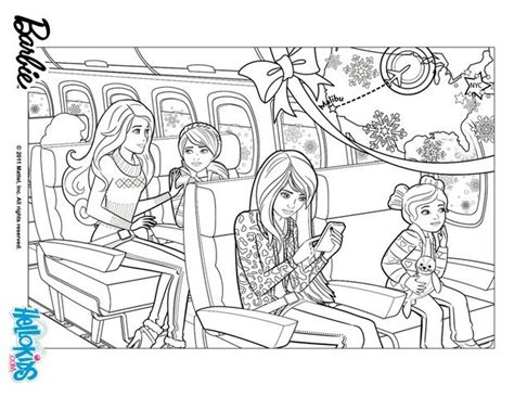 Barbie In The Plane Coloring Pages Hellokids Com Skipper Coloring Pages