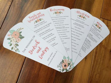 petal fan wedding program template free wedding program fans petal fan programs fan programs