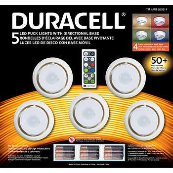 duracell led under cabinet light under cabinet lighting costco