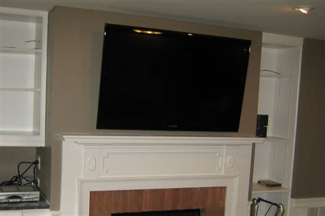 mount tv fireplace hide wires 1000 ideas about tv mounting on mount tv