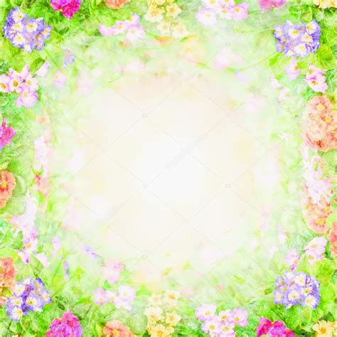 Floral In Green green pink blurry floral background flowers frame stock