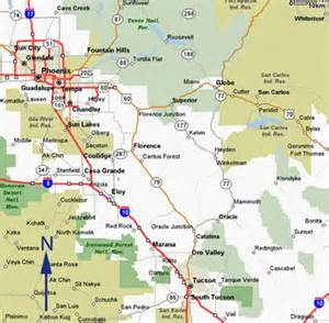 central arizona map lake country power community profile