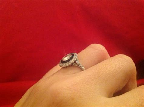 Showing Engagement Ring by Show Me Your Vintage Antique Engagement Rings