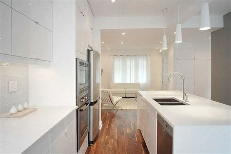 clean polyurethane island modern white kitchen with gloss polyurethane cabinets