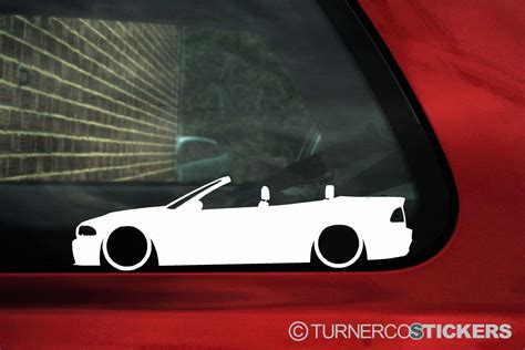 Sticker Bmw Nurburgring Iiim Medium Size 2x low bmw m3 e46 3 series convertible car outline