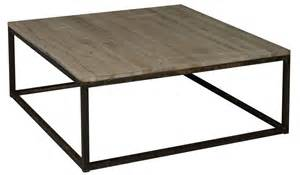 table basse carre industriel 1m x 1m en chne oxyd et mtal