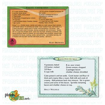 6x4 Recipe Card Template by 6x4 Recipes For Blueprint Cards Digital