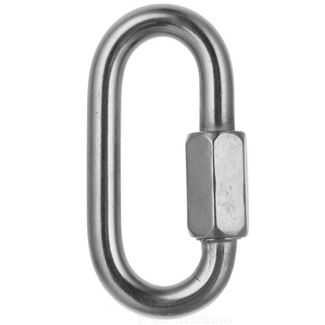 Ntr Oval Release Carabiner Automatic Safety Lock 10 0mm stainless steel safety lock link buckle silver free shipping dealextreme
