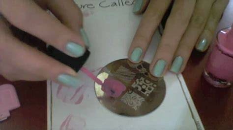 tutorial konad nail art sting pastel roses tutorial konad sting nail art youtube