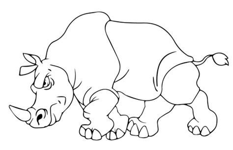 imagenes para colorear rinoceronte dibujo de rinoceronte enfadado para colorear dibujos