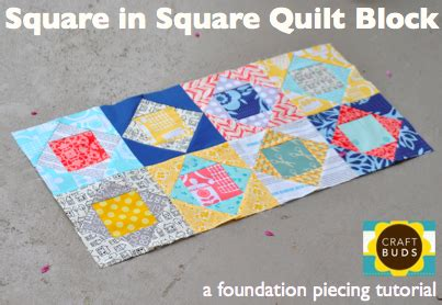 Square In A Square Quilt Block Pattern by Square In Square Quilt Block Paper Piecing Tutorial Craft Buds