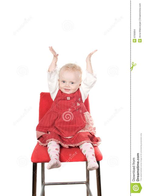 Baby On Chair by Baby Sitting On The Chair Stock Images Image 9766894