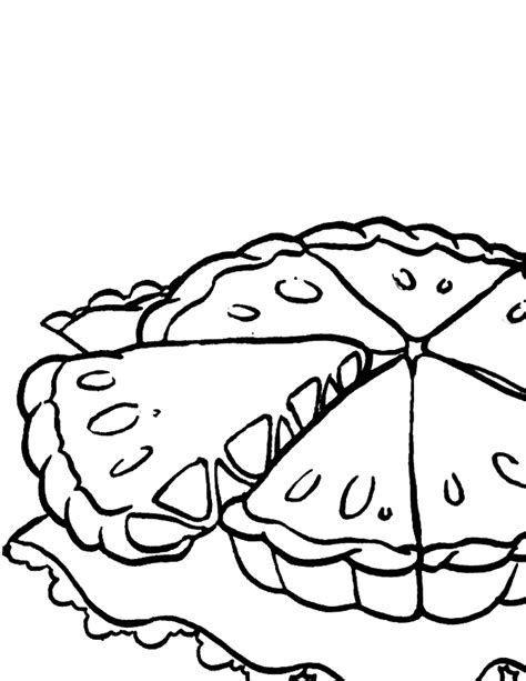 Apple Pie Coloring Pages Pie Coloring Page