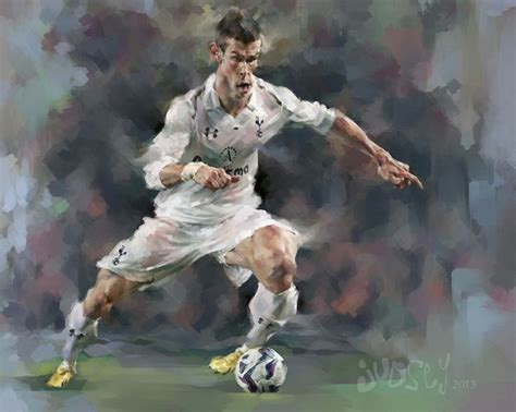 soccer painting this is a digital portrait caricature painting of