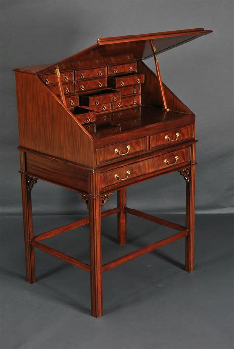 stand alone desk drawers leather top stand up mahogany desk with interior drawers