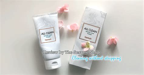 Heimish All Clean White Clay Foam cleansing without stripping heimish all clean white clay
