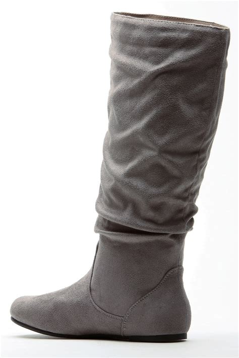grey go to faux suede slouch boot cicihot boots catalog