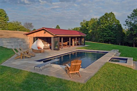 House Plans With A Pool by Small Pool House Plans Houses Ideas Of Including Barn