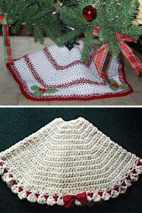 christmas ripples tree skirt pattern 10 crochet christmas tree skirt free patterns knit and