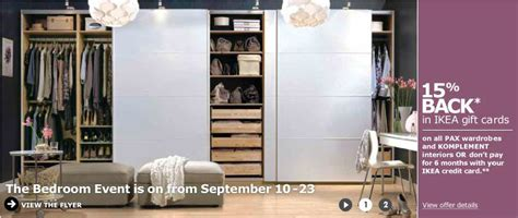 Can You Buy Ikea Gift Cards Online - ikea bedroom event get 15 back in ikea gift cards sept 10 23 calgary deals blog