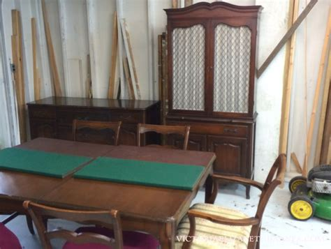 vintage dining room sets vintage dining room set we scored on trash dining