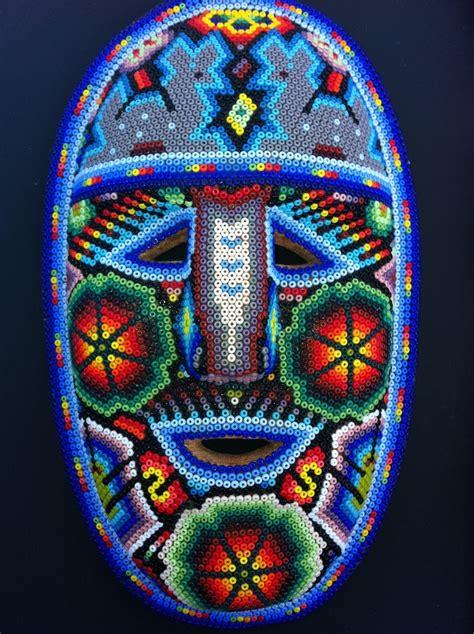 bead mask huichol beaded mask mexican skulls and