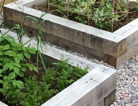 Sleeper Vegetable Garden by New Oak Railway Sleepers