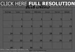 Calendario De Enero Calendario 2018 Para Imprimir Calendario En Blanco