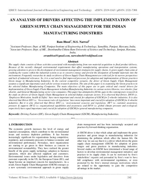 green supply chain management research paper green supply chain management research paper best chain 2018