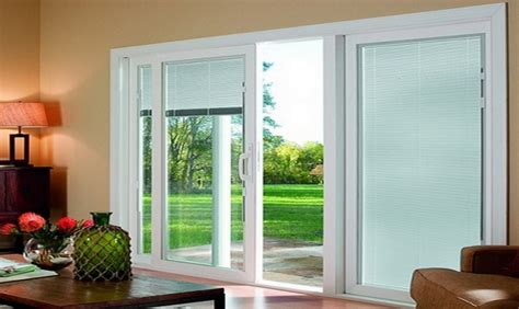 12 Sliding Glass Doors 3 Panel Sliding Glass Door With Blinds Sliding Doors