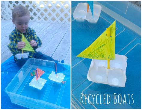 cartoon with boat in space warm weather activity for toddlers kids simple boats made