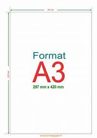 Format A3  Formats De Papier En Mm Cm Et Po